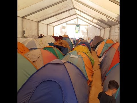 Over 2,600 people were living in tents when InfoMigrants visited the Malakasa refugee camp in October 2019