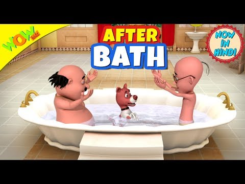 After Bath | New year's special | Hindi Songs for Children | Motu Patlu | WowKidz