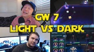 Star Wars: Galaxy Of Heroes - Galactic War 7 Light Side VS Dark Side