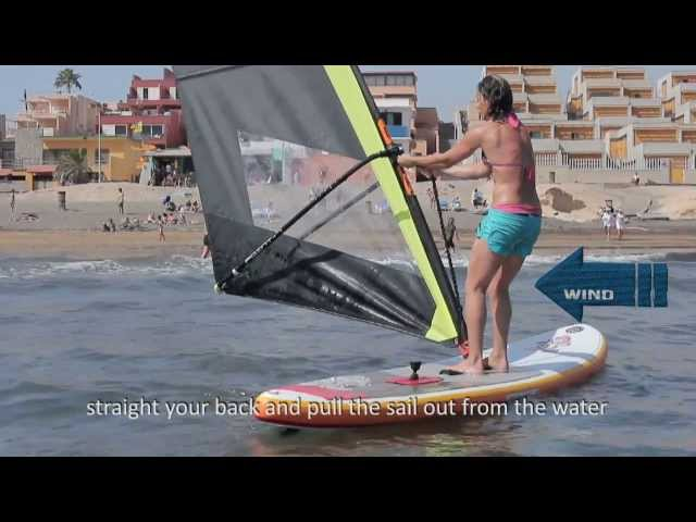 How to get on the board? How to start sailing? Black Team Academy - Beginner Windsurfing