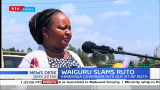 Waiguru slams DP Ruto for disrespecting the president