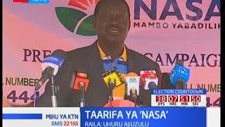 Raila sasa ataka Uhuru Kenyatta kujiuzulu mbali na kutaka wakenya kuchangia kampeni za NASA
