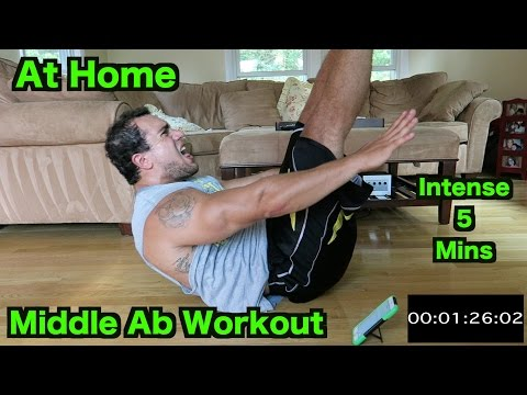 Intense 5 Minute At Home Middle Ab Workout