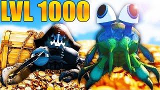 LVL 1000+ TITAN MANTIS SHRIMP & PIRATE KING CRAB - Feed And Grow Fish Gameplay