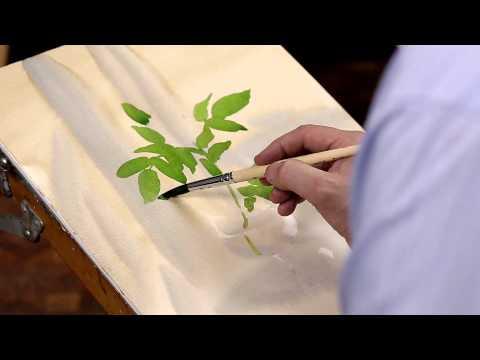Рисуем цветы на холсте - художник Горбачев С.Ю. - Художественные кисти Рублефф