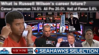 The Seahawks Draft Russell Wilson (Full Sequence)   Round 3 of The 2012 NFL Draft