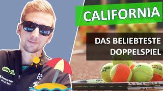California - Das vielleicht beliebteste Tennis Doppelspiel (4 Spieler) - Tennis Doppelübung