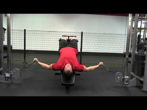 Decline Cable Chest Fly