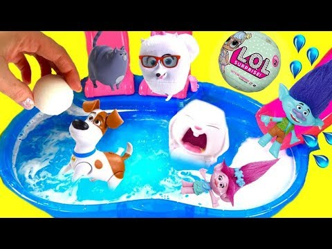 Trolls Poppy & The Secret Life of Pets Dive for Toys
