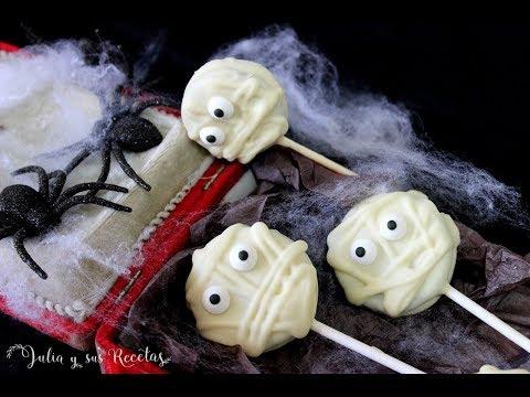 Cómo hacer momias de galletas oreo y chocolate blanco para HALLOWEEN | Receta para hacer con niños