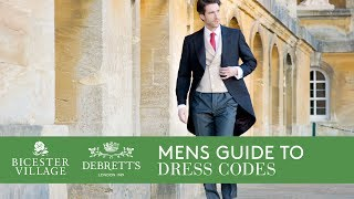 Mens Guide To Dress Codes With Tim Lord / Bicester Village And Debretts