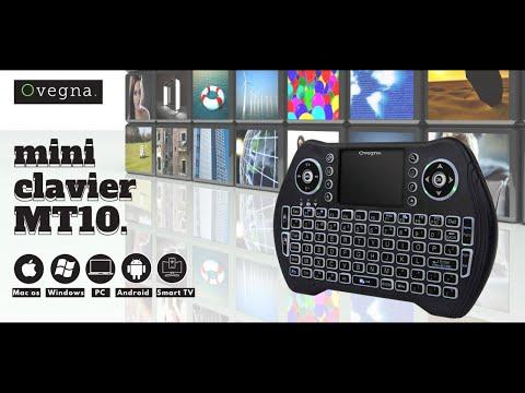 Ovegna MT10 : mini clavier azerty compact sans fil, version avec  batterie