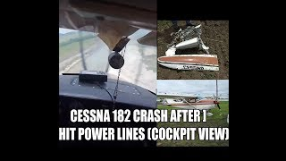 RAW! Cessna 182 Crash after hit high tension power lines