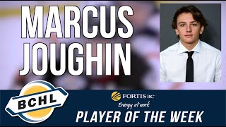 Fortis BC Player of the Week: Marcus Joughin