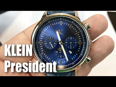 The President Collection Watch in silver and blue by Klein Watches review