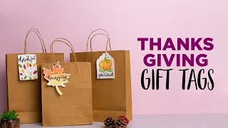 Thanksgiving Watercolor Gift Tags DIY