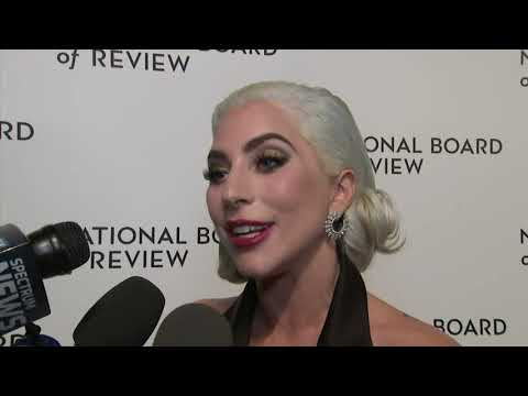 "At the National Board of Review awards in New York, best actress winner Lady Gaga talks about re-opening old wounds to appear in ""A Star is Born"" and Bradley Cooper reveals what pushed him to direct the drama, while Viggo Mortensen shares his misgivings before signing up for ""Green Book."" (Jan. 9)"