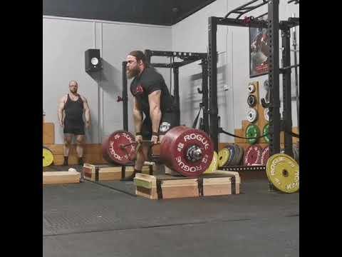 Tom Martin block pulls 480kg Sumo!