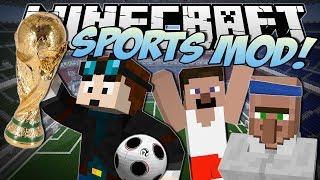 Minecraft   SPORTS MOD! (World Cup Football, Baseball&More!)   Mod Showcase