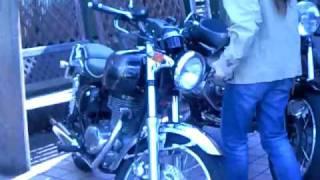 美女ライダー 美人 kawasaki ESTRELLA 250 Motorcycle