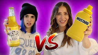 TRYING WEIRD SODAS vs REAL FOOD!!
