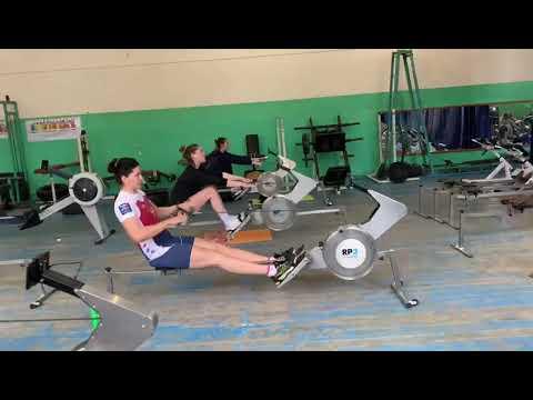 Елена Орябинская - серебряный призер Олимпийских игр в Токио. Подготовка на гребном эргометре RP3