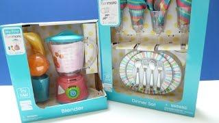 """Đồ Chơi Máy Xay Sinh Tố Cho Bé Và Bộ Đồ Chơi Chén Dĩa Của """"My First KenMore"""" (Bí Đỏ) Blender Toys"""