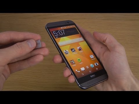HTC One M8 - How To Insert Sim Card