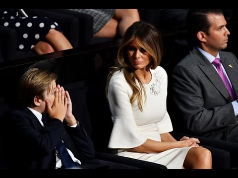 10-Year-Old Barron Trump Yawns Through His Dad's Over-The-Top Speech