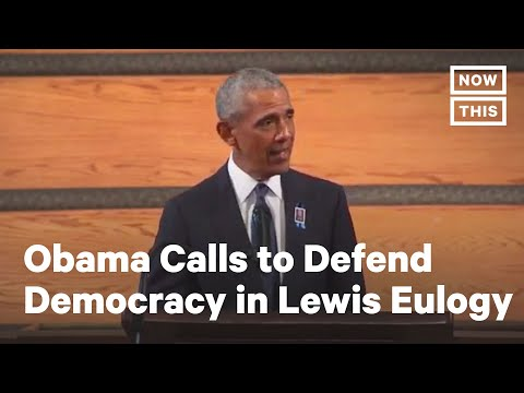 Obama Calls to Protect Democracy in Lewis' Eulogy | NowThis