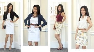 Summer Fashion Favorites for Work & Casual: White Dress & Printed Skirt