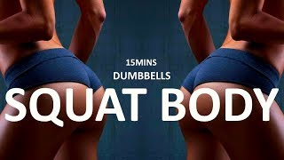 BRUTAL Squat Workout With Dumbbells For Bootyliciousness by Coach Ali Fitness