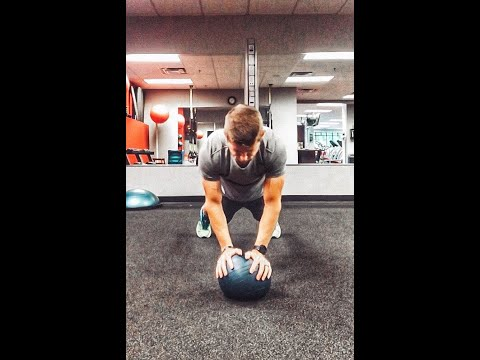 Lateral Plank shuffle with Medball