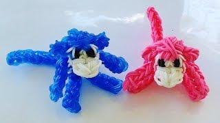 Rainbow Loom, 3D Monkey Rainbow Loom Charm, Loom bands instructions, how to make