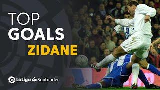 TOP 25 GOALS Zinedine Zidane LaLiga Santander