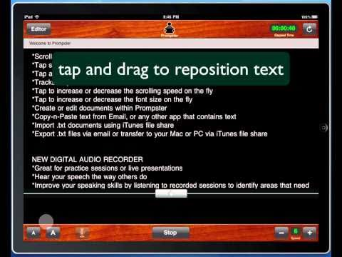 Video of Prompster Public Speaking App