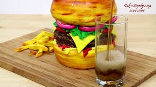 BURGER CAKE How To Make by CakesStepbyStep