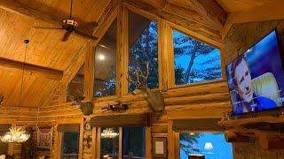 Amish Log Cabin On Massachusetts Lake, Elvie Visits Homeowner