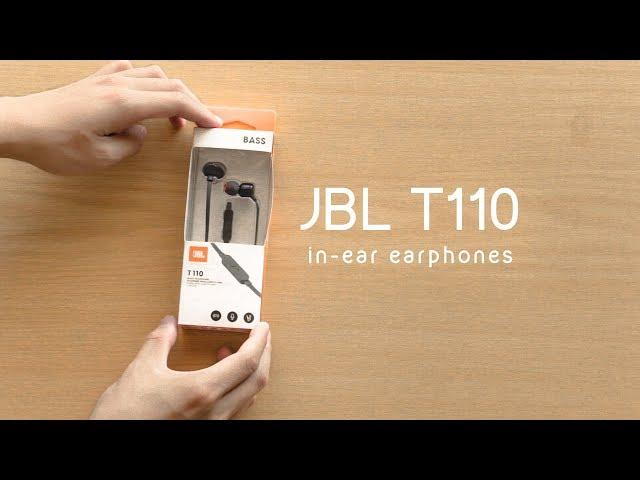 سماعة جي بي ال JBL T110 سلكية - أسود