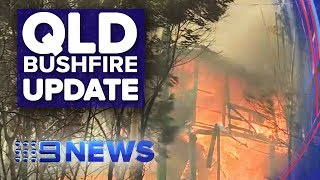 QLD confronted with constantly changing fire conditions | Nine News Australia