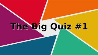 The Big Quiz #1 2019, 40 Questions, Play along with family and friends..