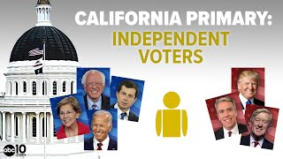 California Primary 2020: Why independents can vote for Democrats, but not for Republicans