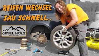 Pneumatischer Wagenheber | Reifenwechsel schnell selber machen