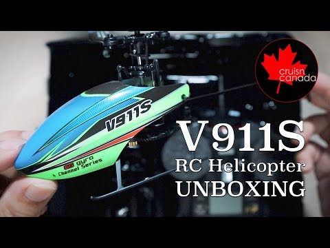 V911S RC Helicopter Unboxing