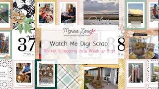 Watch Me Digital Scrapbook: Week 37 2019, Pocket Spread Photoshop Process Video