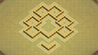 Clash of Clans Town Hall 5 Defense (CoC TH5) BEST War Base Layout Defense Strategy