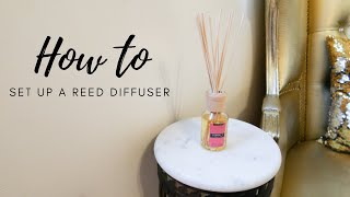 How to Set Up a Reed Diffuser
