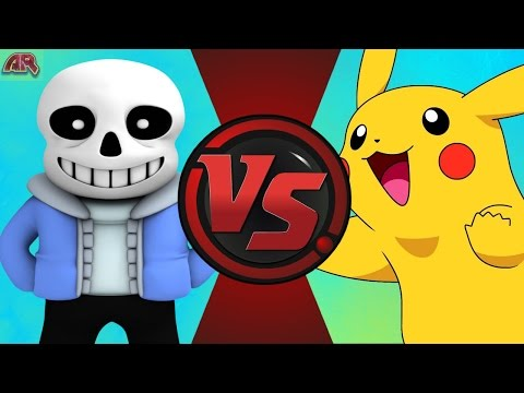 SANS vs PIKACHU! (Undertale vs Pokémon) Cartoon Fight Club Episode