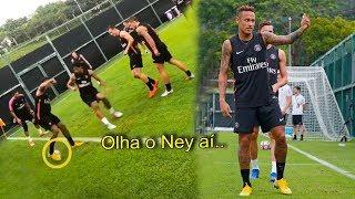 Neymar retorna aos treinos do PSG, fez gracinha, treinou com Buffon e mais!