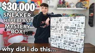 I Bought A $30,000 Sneaker/Hypebeast Mystery Box....
